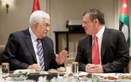الملك الأردني يصل رام الله ويجتمع برئيس السلطة محمود عباس