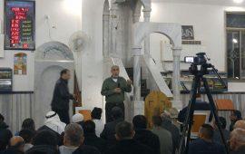 محاضرة للشيخ كمال خطيب في مسجد صلاح الدين بقلنسوة