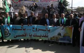 مسيرة لحماس في غزة نصرة للقدس ورفضًا للحصار