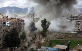 أنباء عن بدء قوات النظام اقتحام الغوطة الشرقية بغطاء روسي