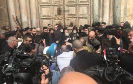 كنيسة القيامة تغلق أبوابها احتجاجًا على فرض الضرائب
