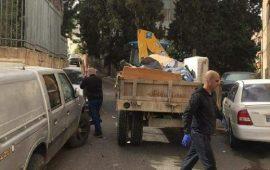 """مجموعة شبابية من أم الفحم تبادر لحملة تنظيف في حارة """"الجبارين"""""""