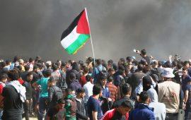 """إصابات برصاص الاحتلال بجمعة """"حرق العلم"""" بغزة"""