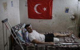 """أهداه أردوغان دراجة """"سباق"""" فبتر الاحتلال الاسرائيلي ساقه"""