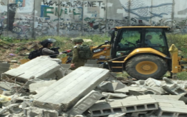 آليات إسرائيلية تهدم منشآت فلسطينية في القدس