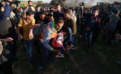 89 إصابة بينها 3 خطيرة بقمع الاحتلال لمسيرات العودة بالقطاع