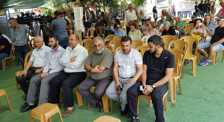 """""""الوفاء والإصلاح"""" في زيارة تضامنية للخان الأحمر"""