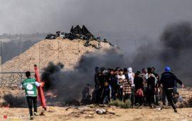 5 شهداء و و232 إصابة: قصف مدفعي لنقاط رصد المقاومة بقطاع غزة لتفريق مسيرات العودة