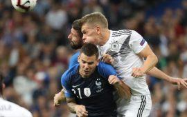 غريزمان يقود فرنسا لعبور ألمانيا بدوري الأمم الأوروبية