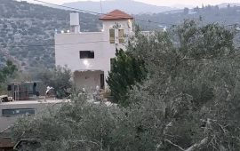 الاحتلال يشرع بهدم منزل الشهيد نعالوة بطولكرم