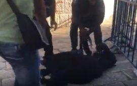 جنود الاحتلال يسحلون مقدسيات حاولن دخول الأقصى (فيديو)