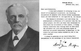 """غضب فلسطيني إزاء رفض بريطانيا الإعتذار عن """"وعد بلفور"""""""