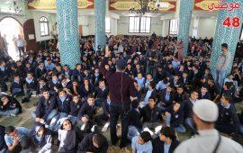 """مسجد """"الحوارنة"""" في كفر قرع يستضيف اعدادية """"ابن سينا"""" في احتفال بذكرى المولد النبوي"""