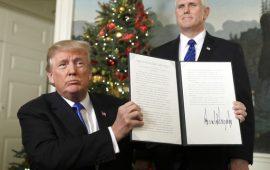 استراتيجية ترامب الجديدة: إسرائيل ليست سبب نزاع الشرق الأوسط