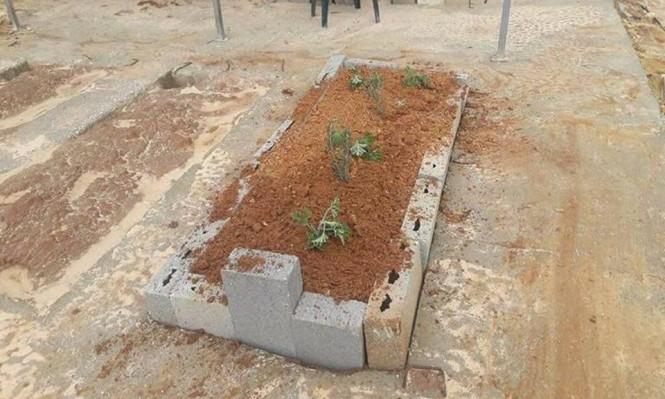 "Photo of قبر ""مجهول"" في عرابة من صاحبه!!"