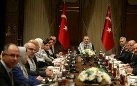 وفد برلماني فلسطيني يلتقي أردوغان