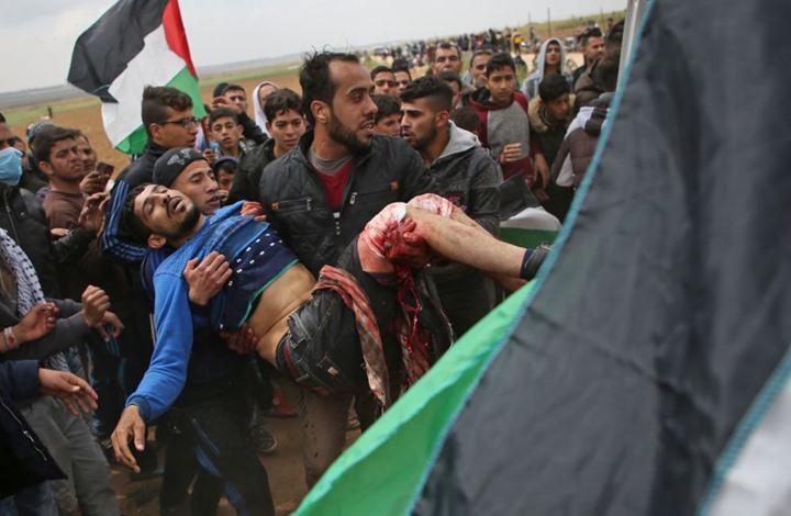 Photo of 15 شهيدا وأكثر من 1400 مصاب في اليوم الأول لمسيرة العودة