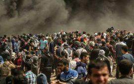 """شهيد ومئات الجرحى في جمعة """"حرق العلم"""" بغزة"""
