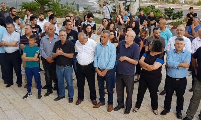 Photo of وقفة احتجاجية للمتابعة أمام مركز الشرطة في حيفا