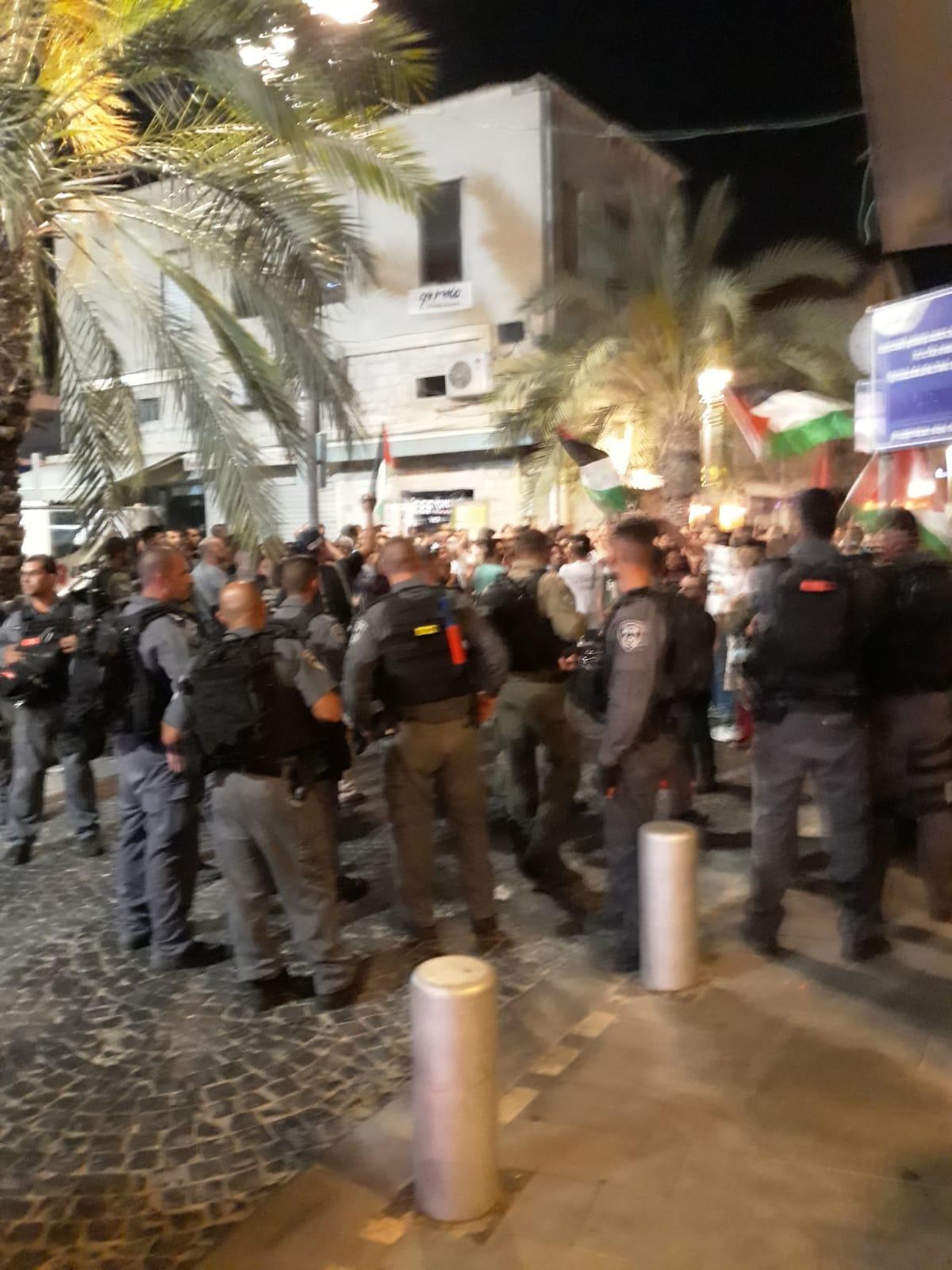 Photo of الشرطة تعتقل عددا من الشبان في المظاهرة المناصرة لغزة في حيفا