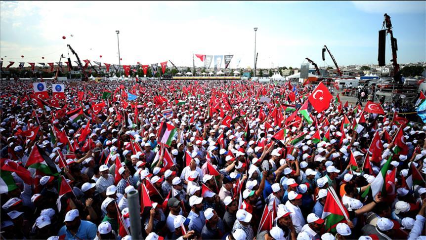"""Photo of إسطنبول.. مئات الآلاف يشاركون في تجمع """"دعم القدس"""""""