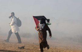 إصابة نحو 190 فلسطينيا بنيران جيش الاحتلال قرب حدود قطاع غزة ـ (صور)