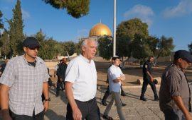 وزير الزراعة الإسرائيلي يقتحم الأقصى برفقة 150 مستوطن.. والاحتلال يعتقل موظفا بالأوقاف