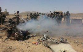 32 قتيلًا إثر تحطم مروحية وتفجير انتحاري بأفغانستان