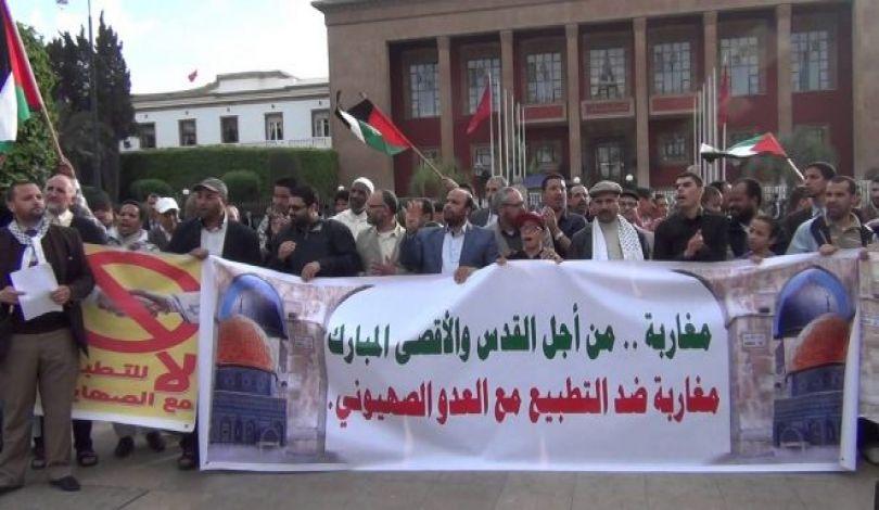 Photo of ناشطون مغاربة يطردون شركة إسرائيلية من معرض التمور الدولي