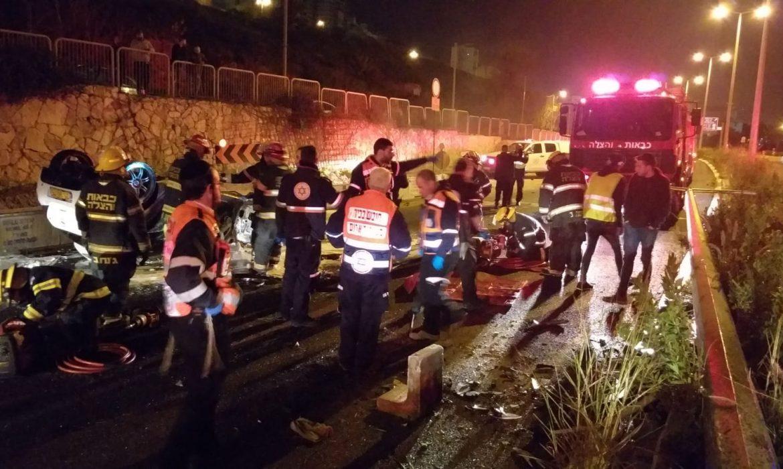 مصرع شابين في حادث طرق مروع قرب حيفا