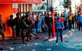 إصابة عشرات الطلبة بالاختناق في عوريف بمواجهات مع الاحتلال