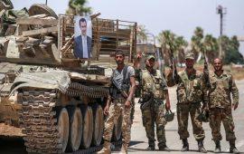 """جيش الأسد يغني """"آه يا حنان"""".. وناشطون: والجولان؟"""