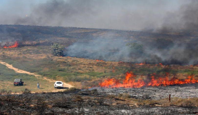 """Photo of حريق بـ""""غلاف غزة"""" بفعل بالونات العودة.. والاحتلال ينشر القبة الحديدية"""