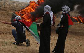 """إصابات بقمع الاحتلال المتظاهرين بجمعة """"يوم الأسير"""" شرقي القطاع"""