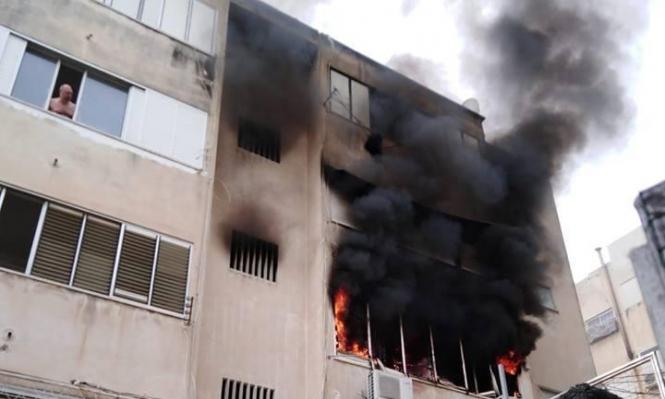 إصابات منها خطيرة في حريق منزل بحيفا