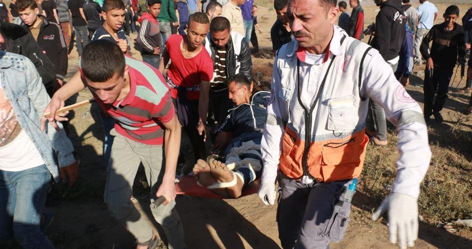 60 إصابة بقمع الاحتلال مليونية العودة وكسر الحصار شرقي القطاع (محدث)