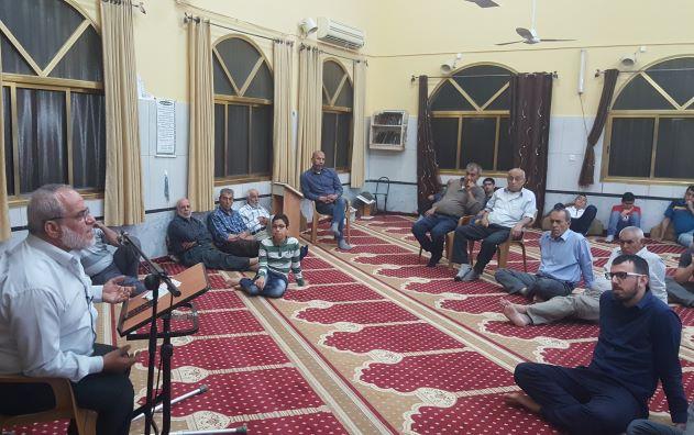 Photo of الشيخ محمد عارف في محاضرة إيمانية بقرية مصمص