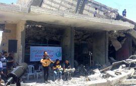 """رسالة """"غزة فيجن"""" إلى """"يوروفيجن"""": غناء على الأنقاض"""