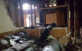 أضرار جسيمة تلحق بمسجد تم إحراقه بالولايات المتحدة