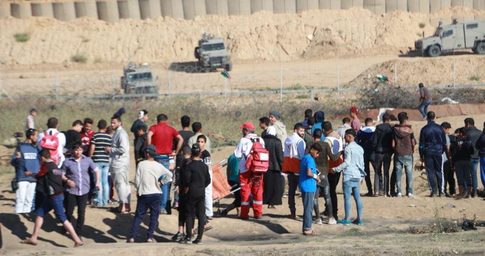 """إصابة العشرات شرقي غزة في جمعة """"لا لضم الضفة"""""""