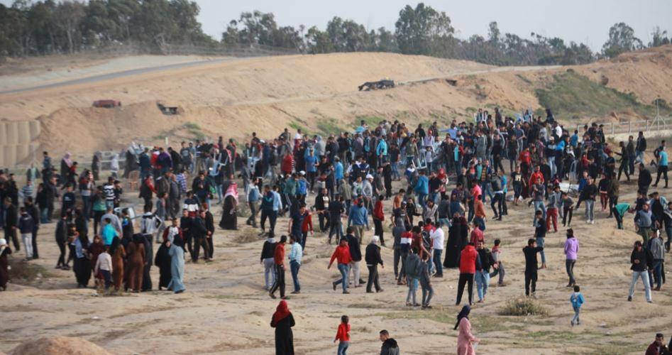 """Photo of """"مسيرات العودة"""": مؤتمر وطني وإضراب شامل الثلاثاء"""