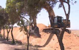 الجيش الإسرائيلي ينشئ جدارًا جديدًا على حدود غزّة