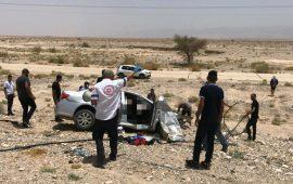 مصرع طفلتين وإصابة آخرين في حادث طرق بالأغوار