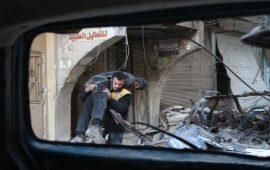 عشرات القتلى والجرحى بقصف جوي للنظام السوري على ريف إدلب
