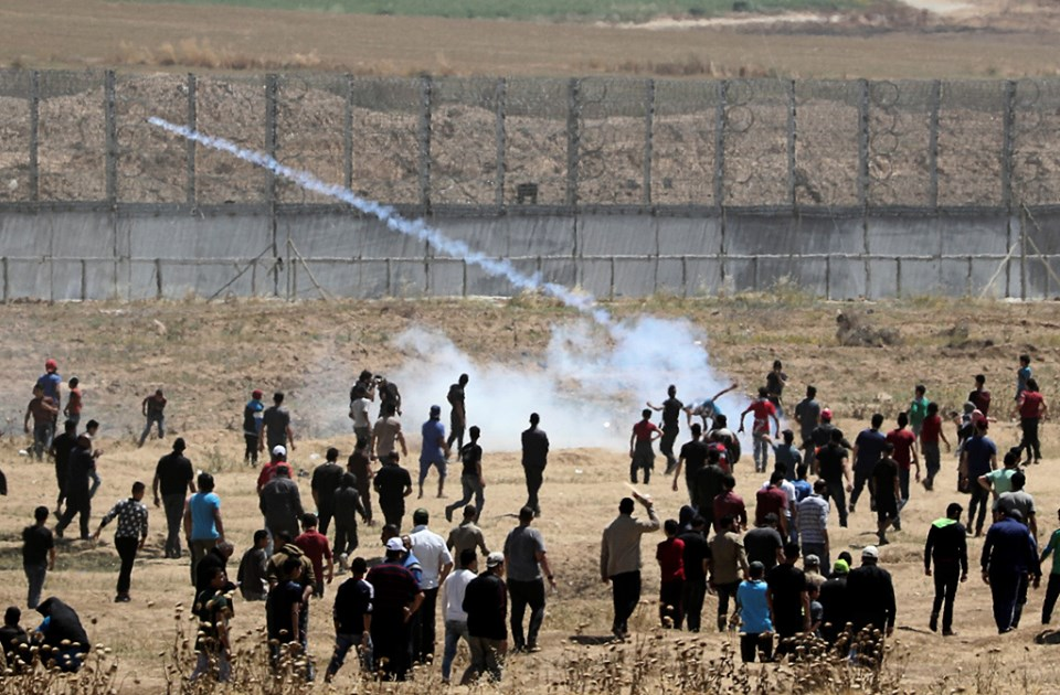 إصابات بقمع الاحتلال للجمعة الـ63 لمسيرات العودة