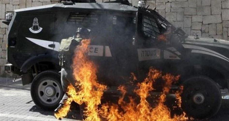 احتراق مركبات في قاعدة إسرائيلية قرب القدس بهجوم فلسطيني
