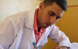 مختبر متنقل في غزة