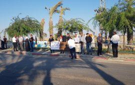 وقفة احتجاجية في اللقية ضد القتل والعنف