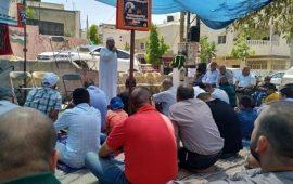 """أداء """"الجمعة"""" بخيمة الاعتصام في أبو ديس إسنادا للأسرى"""