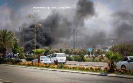 مواجهات مع قوات الاحتلال شمالي البيرة خلال مسيرة منددة باستشهاد السايح